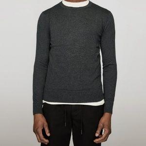 Zara Man Cashmere Blend Crew Neck Sweater